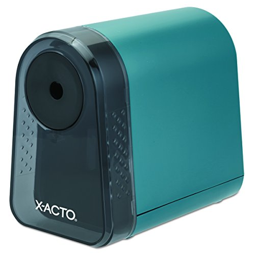 (ELMERS X-Acto Mighty Mite Electric Pencil Sharpener, Mineral Green, 1 Unit (19500))