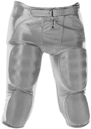 Don Alleson Youth Dazzle Football Pants (Silver, Large) (Apparel Alleson Don)