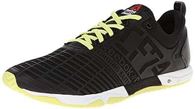 Reebok Men's Crossfit Sprint TR Training Shoe, Black/High Vis Green/White, 7 M US