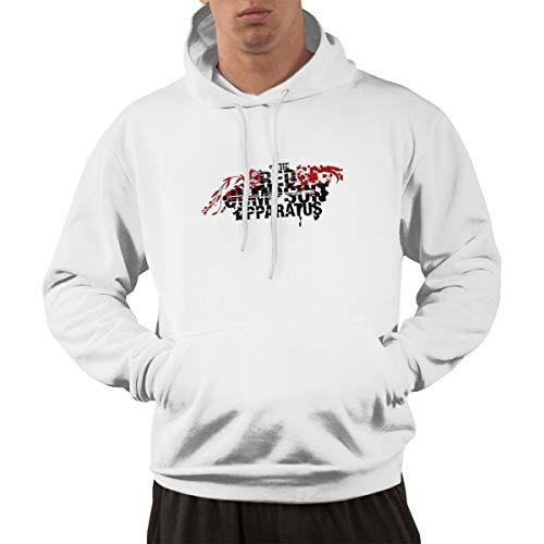 Red -Jumpsuit -Apparatus Logo Men's Pullover Hooded Sweatshirt Premium Hoodies with - Jumpsuit The Hoodie Red Apparatus