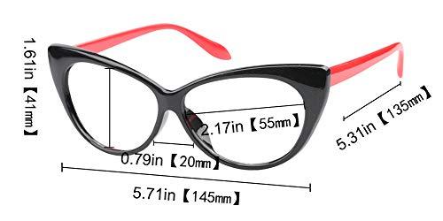 SOOLALA 3-Pair Value Pack Fashion Designer Cat Eye Reading Glasses for Womens, 1.5D by SOOLALA (Image #5)
