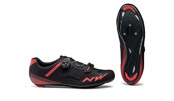 Northwave Zapatillas de Ciclismo Core Plus Negro/Rojo: Amazon.es ...