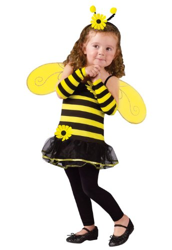 [Honey Bee Kids Costume - Toddler Small] (Bee Toddler Costumes)