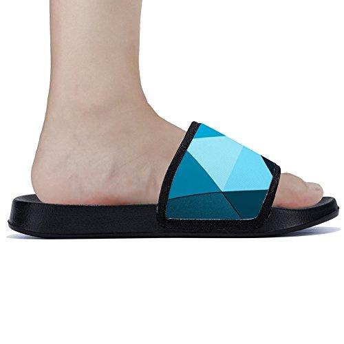 Simple Secado Zapatillas de Triángulo Geométricas Patrón Antideslizante Zapatillas Womens Transpirable para para con Rápido Verano Familia w4qXzTa