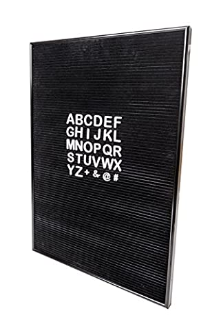 TIURE Black Letter Board with White Letters - Felt - 16