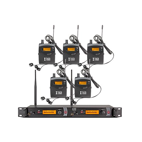 Wireless In Ear Monitor - Top Quality!! Rocket Audio RW2080 In Ear Monitor System 2 Channel 5 Bodypack Monitoring with in earphone wireless SR2050 Type!