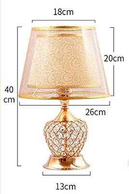 Lámpara de mesa de estilo europeo, lámpara de mesita de noche de ...