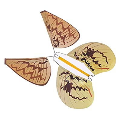 CosCosX 8 PCS Magic Flying Butterfly Surprise Magic Props Mystical Trick Toys Random Color: Home & Kitchen