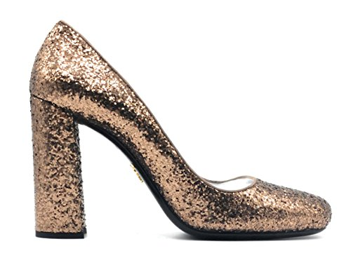 Prada Bronzo Metallic Glitter Pumps 1I963F (Size 38 IT; 8 - Prada Sale