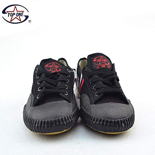 TOP ONE Kungfu Martial Arts Taichi Trainer Shoes - for Men and Women US in Stock (Black, 42=Men's 9)