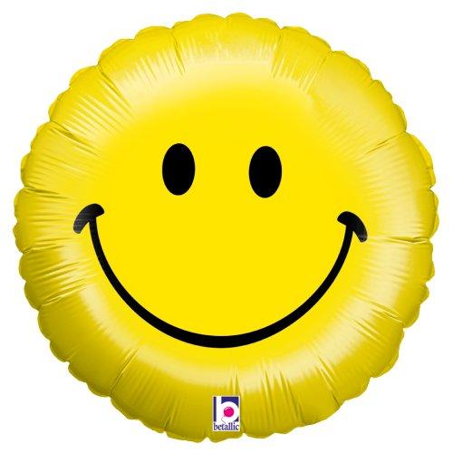 Betallic 16595P Smiley Face Balloon Pack, 18