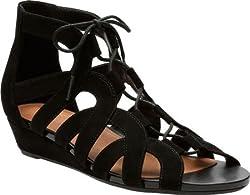 Clarks Womens Parram Lux Sandal Black Suede Size 6