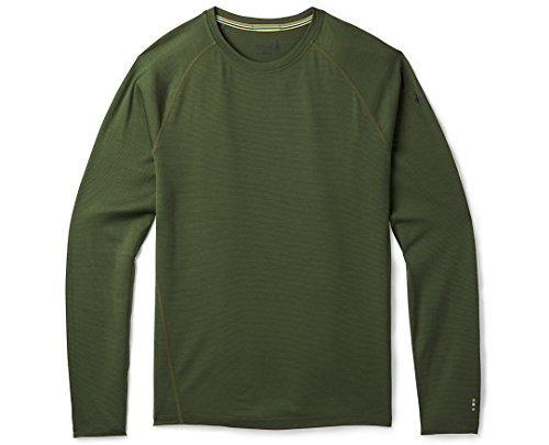 SmartWool SW016061 Men's Merino 150 Baselayer Pattern Long Sleeve, Chive - XL