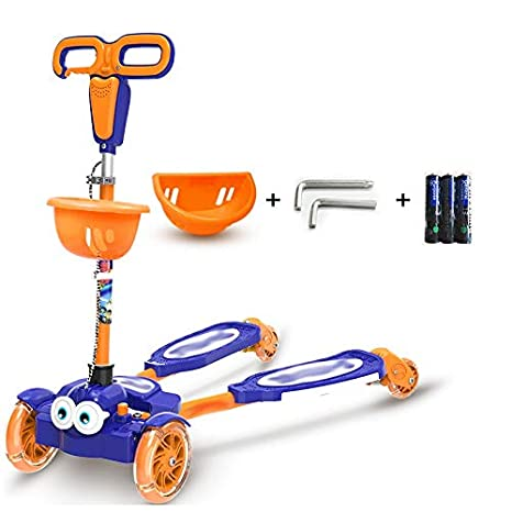 Amazon.com : YUMEIGE Kick Scooters Kick Scooter with Safety Double Brake Folding Commuter Scooters Hight-Adjustable for Kids 1-6 Year-Old Birthday Gifts ...