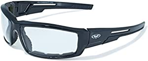 Global Vision Sly Foam Padded Motorcycle Sunglasses Black Frame Clear Lens