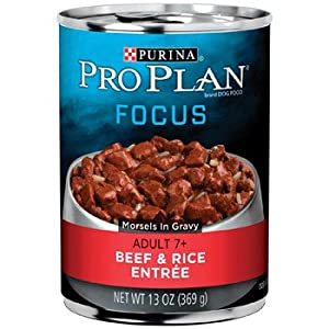 Pro Plan Beef and Rice Canned Food for Senior Dogs