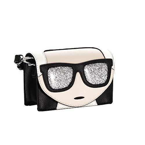 Karl Lagerfeld borsa donna a tracolla pelle borsello nero Elegir Un Mejor Envío Libre Para Barato dnobfJEJl