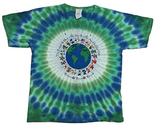(Blue Mountain Dyes LLC Youth - Grateful Dead Flag Bears T Shirt (Large) )