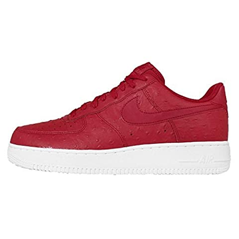 Nike Men's Air Force 1 07 LV8, GYM RED/GYM RED-WHITE, 10.5 M US