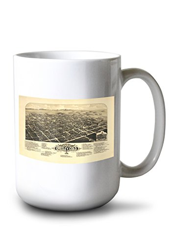 Lantern Press Greeley, CO Panoramic Map - 1882 (15oz White Ceramic Mug)