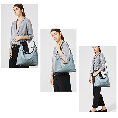 Blue Bag Shoulder Crossbody Hobo Designer Women BOSTANTEN Handbag Purses Leather q8wHR1nz