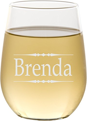 Engraved Stemless Wine Glass, Personalized with Your Custom Text - - Engraved Glasses Custom