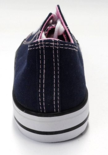 blanc De Dek Ville À Multicolore Femme Lacets Chaussures Rose Pour Bleu pqTqnwBzx