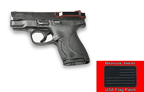 Clipdraw Ambidextrous Concealed Gun Belt Clip for S&W M&P Shield 45 Caliber Black With EXO's Flag Patch by ClipDraw