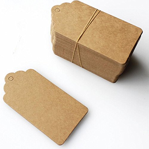 Luggage Tag - 100pcs Lot 45 95mm Kraft Paper Lace Scallop Head Label Luggage Tags Wedding Diy Blank Hang Gift - Earrings Vintage Glitter Zealand Protectors Large American Europe Elephant Tr