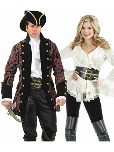 Pirate Costumes Belt Buckle - Charades Pirate, Black/Gold, One