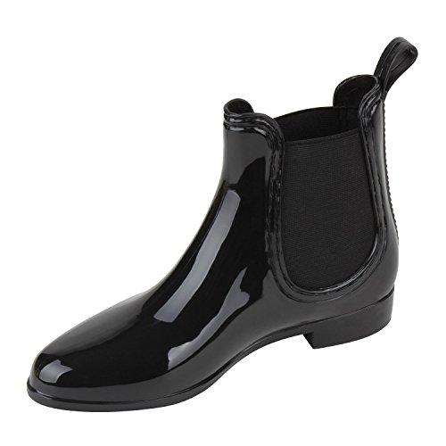Japado - Botas de agua Mujer Negro - negro