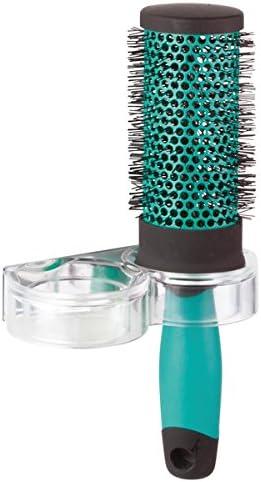 supporto in plastica robusta mDesign portaoggetti bagno per spazzole per capelli accessori da bagno accessori per bagno pratici e universali
