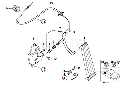amazon bmw genuine kick down switch automotive 1997 BMW 318I Conv