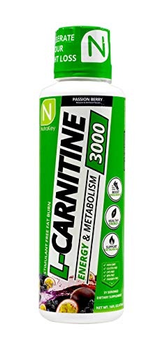 (NutraKey L-Carnitine 3000 Liquid Fat Burner, (Passion Berry) 31 Servings)