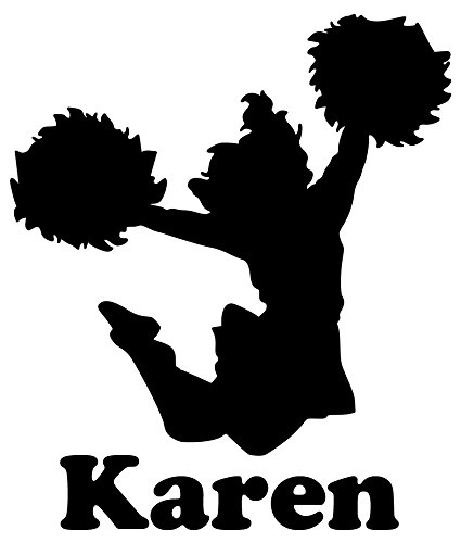 Decal Cheerleader Vinyl - Minglewood Trading Cheerleader Vinyl Decal Sticker with Custom Personalized Name 6
