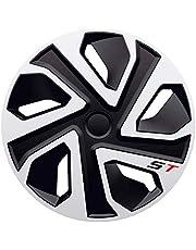 J-Tec J13586 Set wieldoppen R 13-inch zilver + chromen ringen, inch