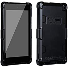 Fire HD 6 Case,Warmmarket Case for Fire HD 6, Shock Absorption TPU Bumper Scratch Resistant Clear Protective Cases Cover for Amazon Kindle Fire HD 6( 6-Inch HD Display Tablet 2014 Release)-Black