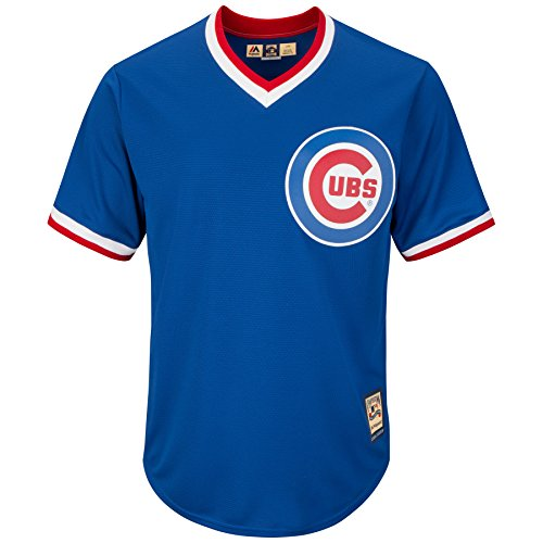 - Majestic Royal Blue Replica Cooperstown Cool Base® Jersey - MLB Chicago Cubs (4XL, Royal Blue)
