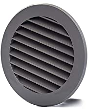 Vent Systems X Pack - 4'' Inch Gray Soffit Vent Cover - Round Air Vent Louver - Grill Cover - Built-in Insect Screen - HVAC Vents for Bathroom, Home Office, Kitchen - Multi-Pack X Pack (1)