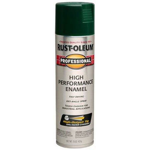 Rust-Oleum 7538838 Professional High Performance Enamel Spray Paint, 15 oz, Hunter Green