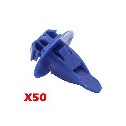 (Partsam 50 pcs Bumper Fender Clips Nylon Retainer Plastic Rivet for Toyota 90904-67036)
