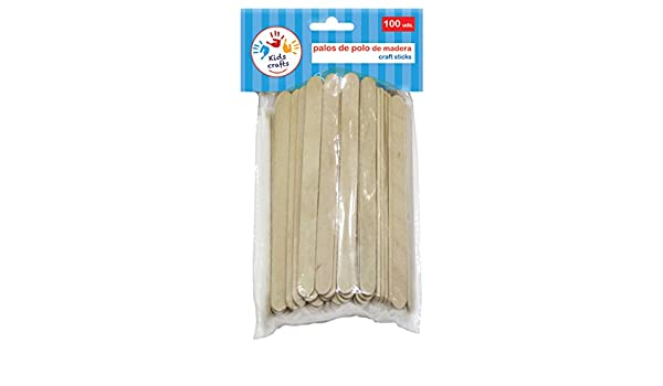 Dohe 18102 - Pack de 100 palos de polo madera: Amazon.es: Oficina ...