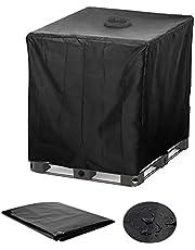IBC Cover UV-skydd, folie med hålutskärning, vattentank, presenning, 1 000 l IBC behållarskydd, trädgårdsbord, skyddshölje, presenning, UV-folie, skyddsfodral (120 x 100 x 116 cm)