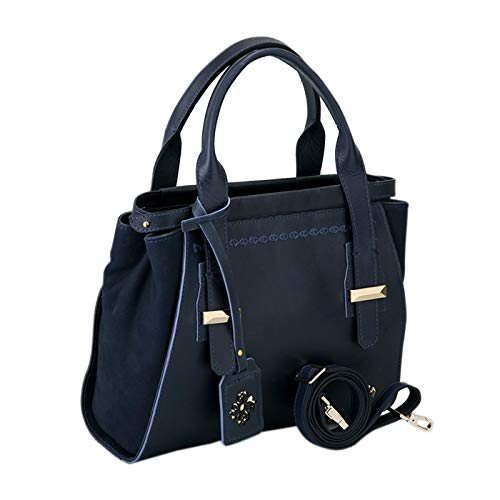Velez Cuero Genuine Carteras de Colombian Leather 1020511 Purse Women Mujer Blue Handbag para r85qBr
