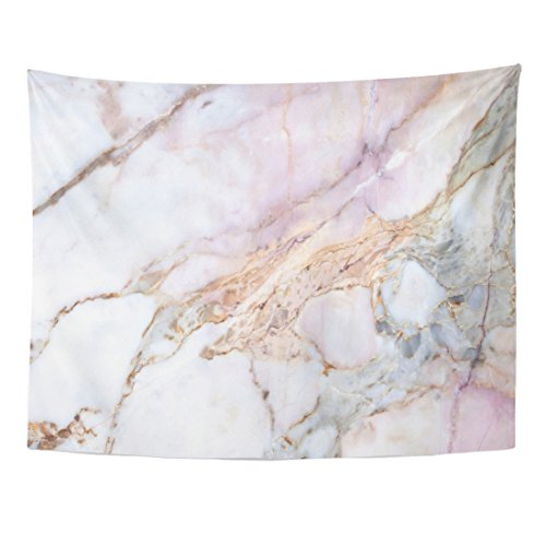 Emvency Tapestry Pink White Marble Pattern with High Resolution Gray Black Home Decor Wall Hanging for Living Room Bedroom Dorm 60x80 Inches ()