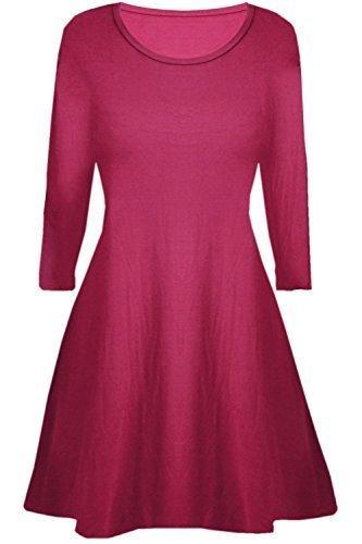 92c73c9625 Fashion Star Kids Girls Women Long Sleeve Plain Swing Mini Dress   Amazon.co.uk  Clothing