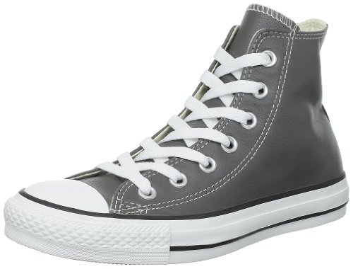 Converse Unisex-Adult Chuck Taylor All Star Core Leather Hi-Top Trainers Charcoal OTNv4RYDjH