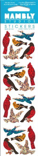 (Mini Birds Sparkle Scrapbook Stickers (P7072) )