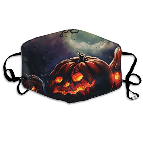 SOADV Mouth Masks Halloween Pumpkin Pattern Mouth Masks Unisex Anti-Dust Flu Washable Reusable Mouth Mask Fashion Design for Girls Women Boys Men