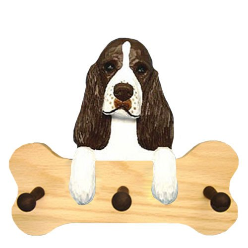 (Michael Park Liver English Springer Spaniel Bone Hang Up Natural Oak)